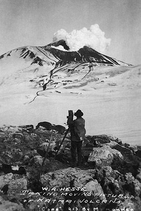 Photographer at Mount Katmai Volcano Alaska 1913 Photo Print