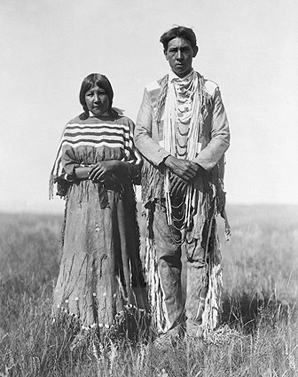 Piegan Indian Couple Edward S. Curtis 1910 Photo Print