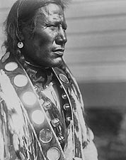 Piegan Indian Man Edward S Curtis Portrait Photo Print for Sale