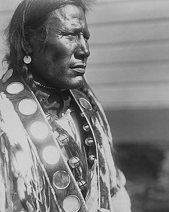 Piegan Indian Man Edward S Curtis Portrait Photo Print