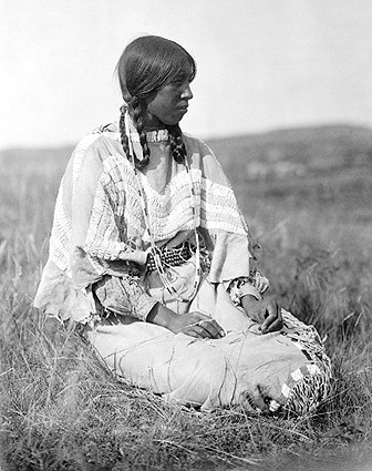 Piegan Indian Woman Edward S. Curtis 1910 Photo Print