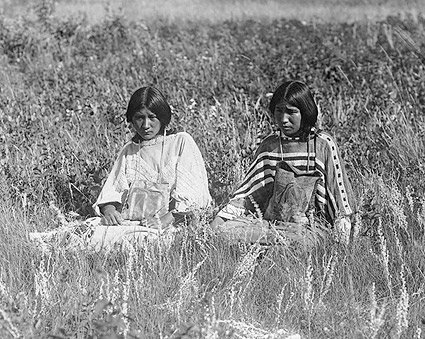 Piegan Indian Women Edward S. Curtis 1910 Photo Print
