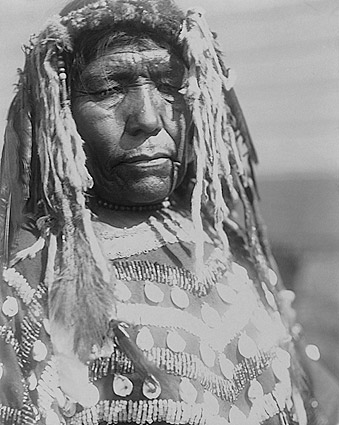 Piegan Woman Edward S Curtis Portrait 1910 Photo Print