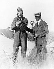 Pilot Charles Lindbergh & Plane Wreckage Photo Print for Sale