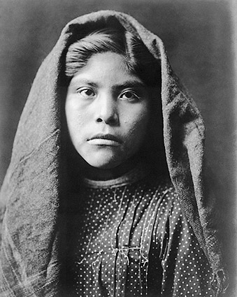 Pima Indian Girl Edward S. Curtis Portrait Photo Print