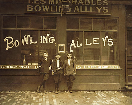 Pin Boys at Bowling Alley Lewis Hine 1911 Photo Print