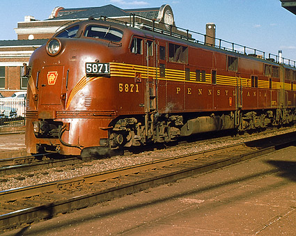 Pinstripe Train E-7A Pennsylvania Railroad  Photo Print