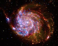 Pinwheel Galaxy Hubble Space Telescope Photo Print for Sale