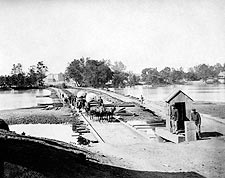 Pontoon Bridges Richmond, VA 1865 Civil War Photo Print for Sale
