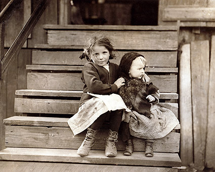 Poor Latch Key Kids Lewis Hine 1911 Photo Print