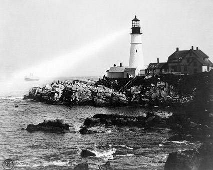 Portland Head Light Lighthouse in Maine 1917 Photo Print