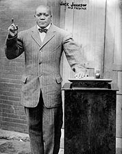 Portrait of Boxer and Preacher Jack Johnson 1915 Photo Print for Sale
