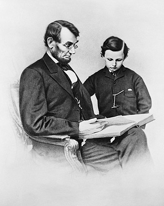 Pres. Abraham Lincoln & Son Tad Portrait Photo Print
