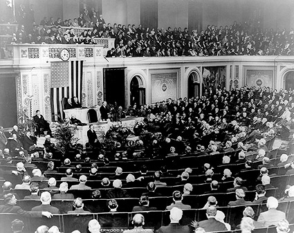 Pres. Herbert Hoover Addressing Congress Photo Print