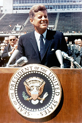 Pres. John F Kennedy JFK Rice University Photo Print