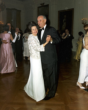 Pres. Lyndon & Lady Bird Johnson Dancing Photo Print
