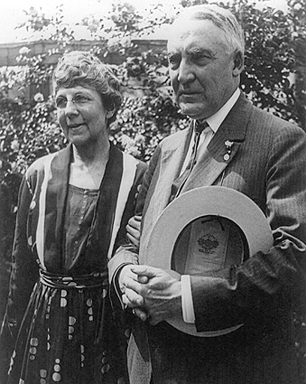 Pres Warren Harding & 1st Lady White House Photo Print