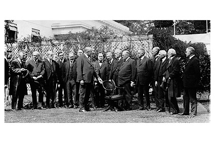 Pres. Warren Harding & Roosevelt Society Photo Print