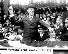 Pres. Woodrow Wilson World Series Baseball Photo Print