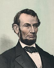 President Abraham Lincoln Lithograph 1865 Photo Print for Sale