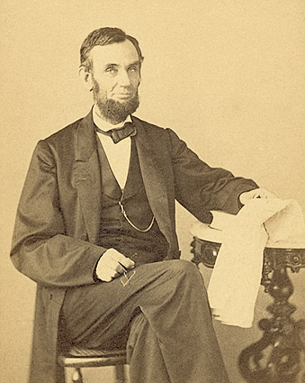 President Abraham Lincoln Seated Portrait 1863 Photo Print