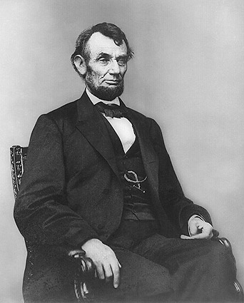 President Abraham Lincoln Seated Portrait Photo Print