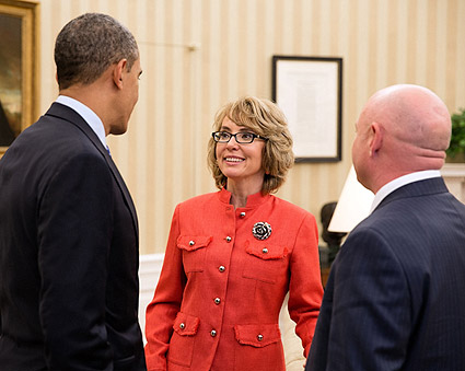 "President Barack Obama and Gabrielle ""Gabby"" Giffords Photo Print"