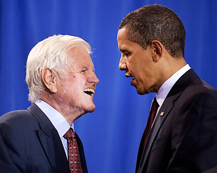 President Barack Obama and Senator Ted Kennedy 2009 Photo Print