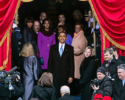 President Barack Obama at Swearing-In Ceremony 2013 Photo Print