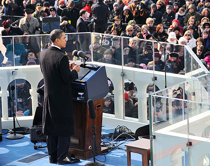 President Barack Obama Inaugural Address 2009 Photo Print