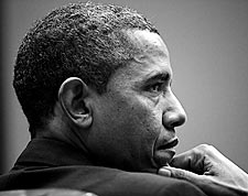 President Barack Obama Profile Photo Print for Sale
