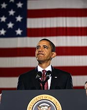 President Barack Obama Speaking at Camp Lejeune Photo Print for Sale