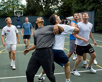 President Barack Obama White House Basketball Game Photo Print