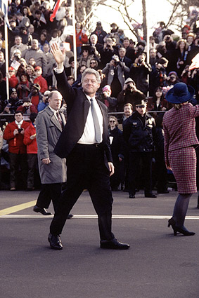 President Bill Clinton at Inaugural Parade 1997 Photo Print