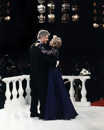 President Bill Clinton & Hillary Dancing Photo Print