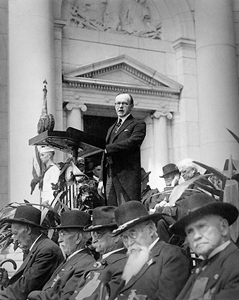 President Calvin Coolidge Giving Speech Photo Print