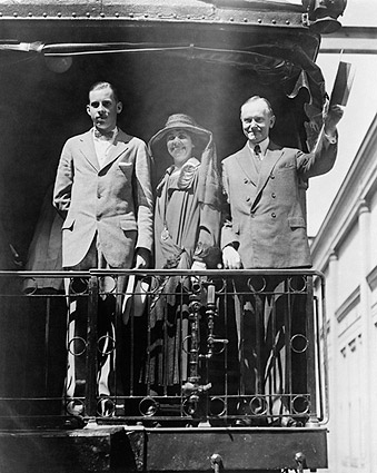 President Calvin Coolidge on Campaign Trail Photo Print