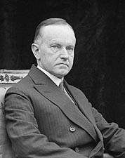 President Calvin Coolidge Portrait 1924 Photo Print for Sale