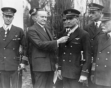 President Calvin Coolidge Presenting Medals Photo Print