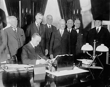 President Calvin Coolidge Signing Tax Bill Photo Print