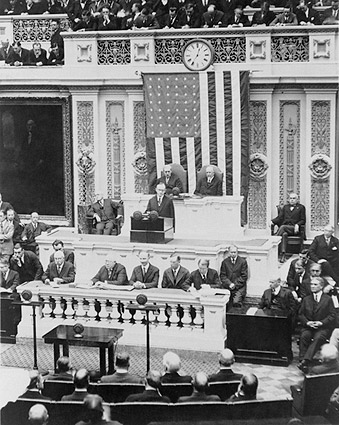 President Coolidge Giving First Address to Congress Photo Print