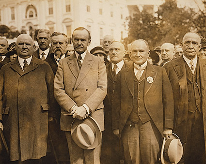 President Coolidge w/ Scottish Freemasonry Delegation Photo Print