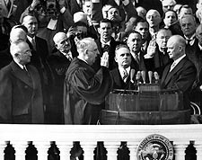 President Dwight Eisenhower Oath of Office Photo Print for Sale