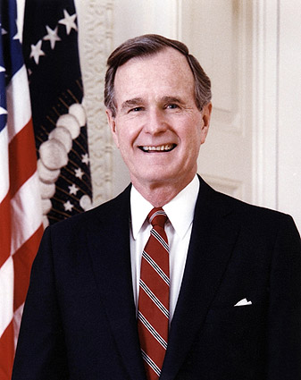 President George Bush Official Portrait Photo Print