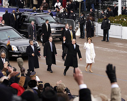 President George W Bush in Inaugural Parade Photo Print