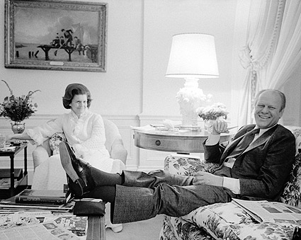 President Gerald Ford & Betty Ford at White House Photo Print