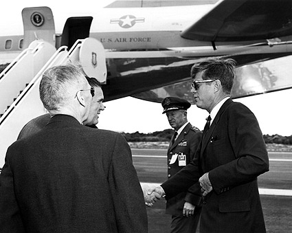 President John F Kennedy at Cape Canaveral Photo Print