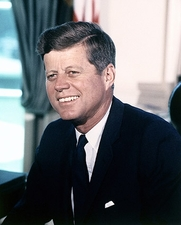 President John F. Kennedy Color Portrait Photo Print