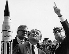 President John F. Kennedy & Dr Von Braun Photo Print for Sale