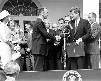 President John Kennedy & Alan Shepard Photo Print
